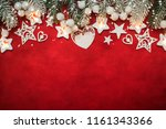 christmas composition. top view ... | Shutterstock . vector #1161343366