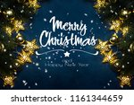 christmas composition. top view ... | Shutterstock . vector #1161344659