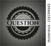 question dark emblem | Shutterstock .eps vector #1161346663