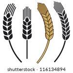 wheat ear icon set | Shutterstock .eps vector #116134894