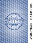 athlete blue emblem with... | Shutterstock .eps vector #1161353506