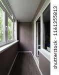 balcony after repair. walls...   Shutterstock . vector #1161355813