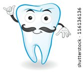 illustration of a tooth on a... | Shutterstock .eps vector #116136136