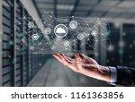 industrial integration... | Shutterstock . vector #1161363856