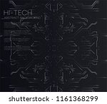vector abstract futuristic... | Shutterstock .eps vector #1161368299