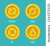 vector set financial icon coin... | Shutterstock .eps vector #1161373123