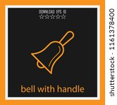 bell with handle vector icon