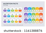 nutrition facts colorful tables ... | Shutterstock .eps vector #1161388876