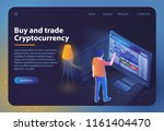 buy and trade cryptocurrency.... | Shutterstock .eps vector #1161404470