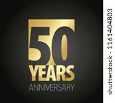 50 years anniversary gold black ... | Shutterstock .eps vector #1161404803