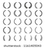collection of different black... | Shutterstock .eps vector #1161405043
