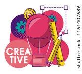 creative graphic design | Shutterstock .eps vector #1161407689