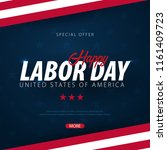 labor day sale promotion ... | Shutterstock .eps vector #1161409723