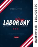 labor day sale promotion ... | Shutterstock .eps vector #1161409930