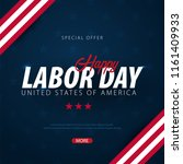 labor day sale promotion ... | Shutterstock .eps vector #1161409933