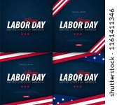 labor day sale promotion ... | Shutterstock .eps vector #1161411346