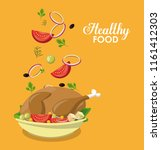 healthy food concept | Shutterstock .eps vector #1161412303