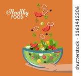 healthy food concept | Shutterstock .eps vector #1161412306