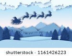 paper christmas postcard with... | Shutterstock .eps vector #1161426223