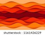 paper art cartoon abstract... | Shutterstock .eps vector #1161426229