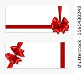 holiday gift banner with red... | Shutterstock .eps vector #1161430243