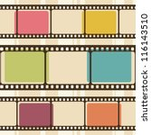 retro background with film... | Shutterstock .eps vector #116143510