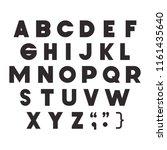 alphabet type font icons | Shutterstock .eps vector #1161435640