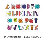 alphabet type font icons | Shutterstock .eps vector #1161436939