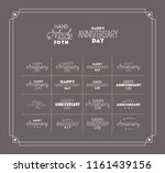 happy anniversary day with set... | Shutterstock .eps vector #1161439156