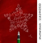 christmas tree toy star... | Shutterstock .eps vector #1161443533