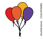 balloons helium floating icon | Shutterstock .eps vector #1161443686