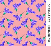 watercolor vegan pattern.... | Shutterstock . vector #1161445870