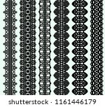 set of oval lace frames and... | Shutterstock .eps vector #1161446179