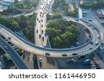 car driving on the overpass | Shutterstock . vector #1161446950