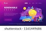 people around huge lamp... | Shutterstock .eps vector #1161449686