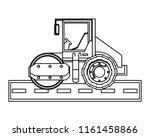 construction trucks design | Shutterstock .eps vector #1161458866