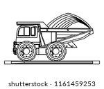 construction trucks design | Shutterstock .eps vector #1161459253