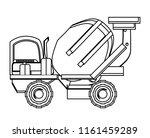 construction trucks design | Shutterstock .eps vector #1161459289