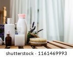 beautiful spa composition with... | Shutterstock . vector #1161469993