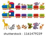 animals and train element... | Shutterstock .eps vector #1161479239
