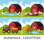 A Set Of Rural Farm House...
