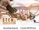 stem education for learning ... | Shutterstock . vector #1161493516