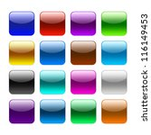 blank color web buttons on...   Shutterstock . vector #116149453