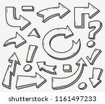 trendy collection of different... | Shutterstock .eps vector #1161497233