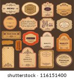 vector collection  vintage and... | Shutterstock .eps vector #116151400