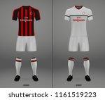 3d realistic template soccer... | Shutterstock .eps vector #1161519223