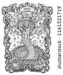 lovers. major arcana tarot card.... | Shutterstock .eps vector #1161521719