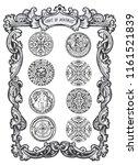 eight of pentacles. minor... | Shutterstock .eps vector #1161521839