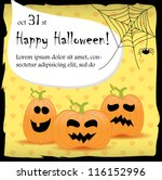 halloween party invitation card | Shutterstock .eps vector #116152996