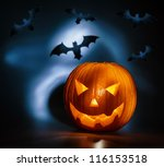 picture of halloween holiday... | Shutterstock . vector #116153518